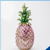 Pineapple Jeweled Trinket Box Jewelry Box with Crystal Stones images
