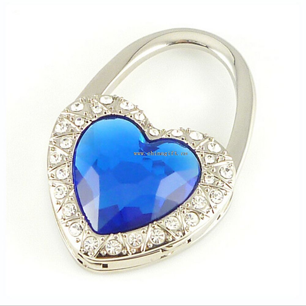 Wholesale fashion jewelry folding bag purse hook handbag hanger holder