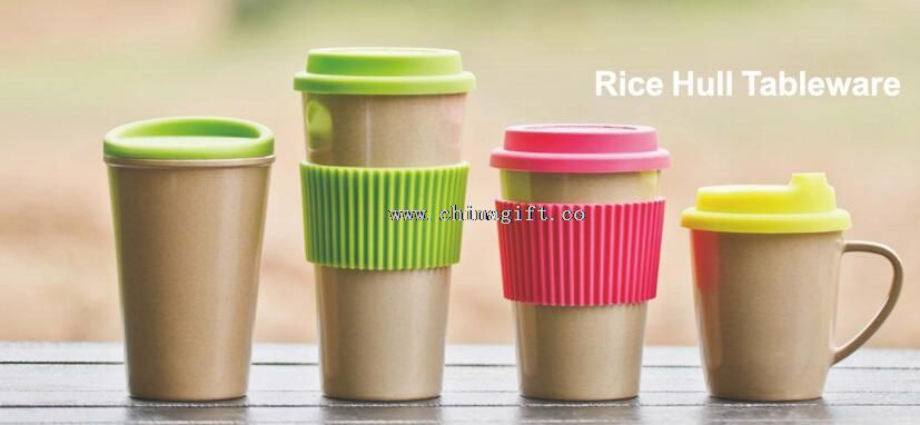 Custom rice hull milk mugs and cups