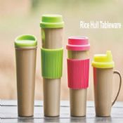 Custom rice hull milk mugs and cups images