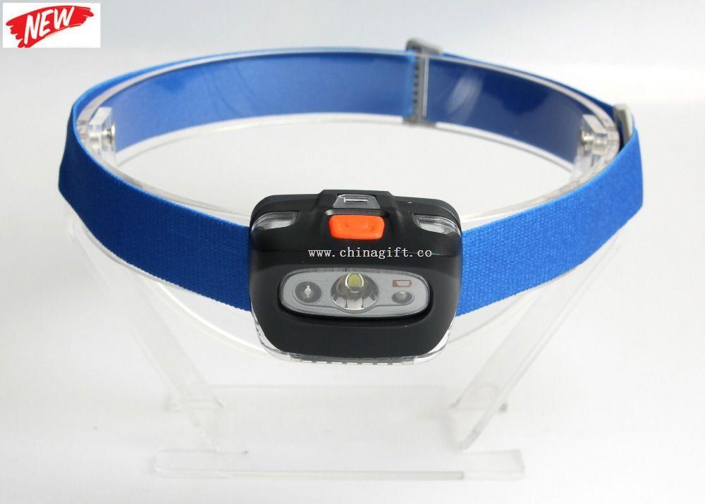 165 lm blue plastic led headlamp