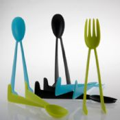 2 in 1 multi-functional fancy magic fork and spoon images