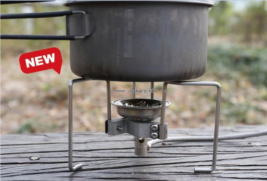 Camping aluminium portable gas stove stand