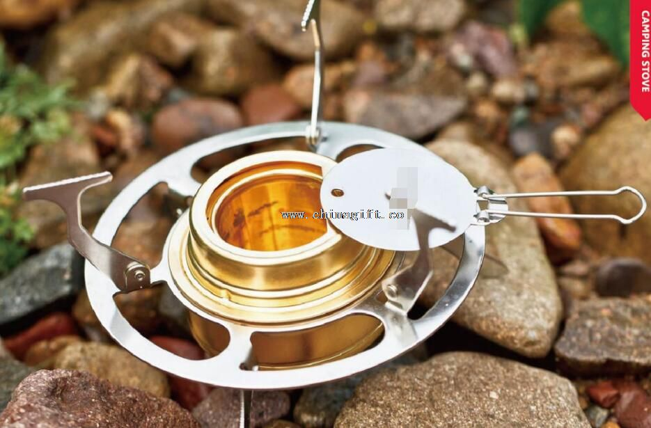 Outdoor camping stainless steel Alcohol burners with stand