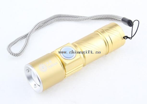 Aluminum mini Led Flashlight With Usb Charger