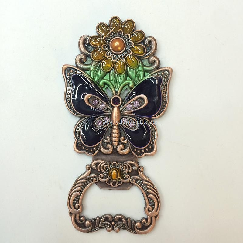 Butterfly And Flower Shaped Metal Beer Bottle Opener