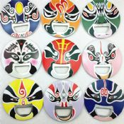 Beijing Opera Colorful Face Anime Metal Bottle Opener images