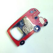 bus shaped metal souvenir bottle opener images