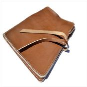 Brown Leather A4 Document Personalized Portfolio Case images