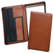 Zippered Leather Portfolio Folder images