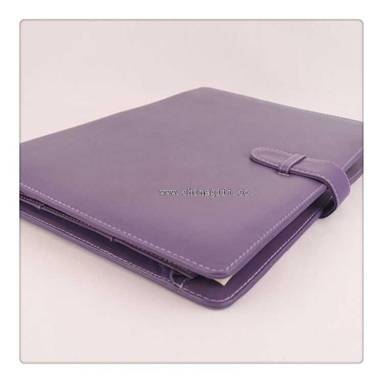 Purple A4 Leather Ring Binder
