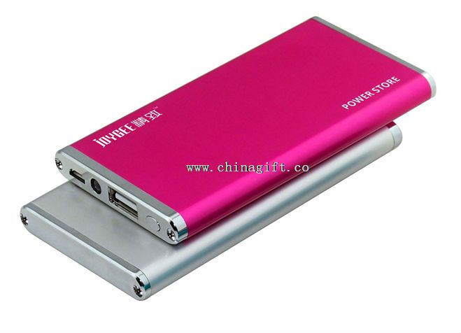Super thin metal smartphone portable charger