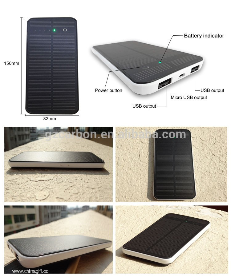 8000mah solar battery charger