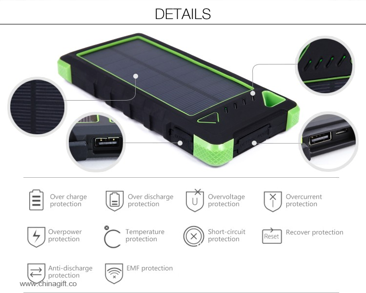 16000mah mobile solar charger