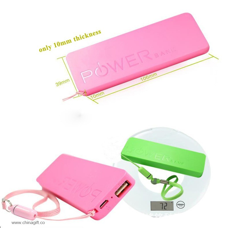 Super slim power bank 2000mah