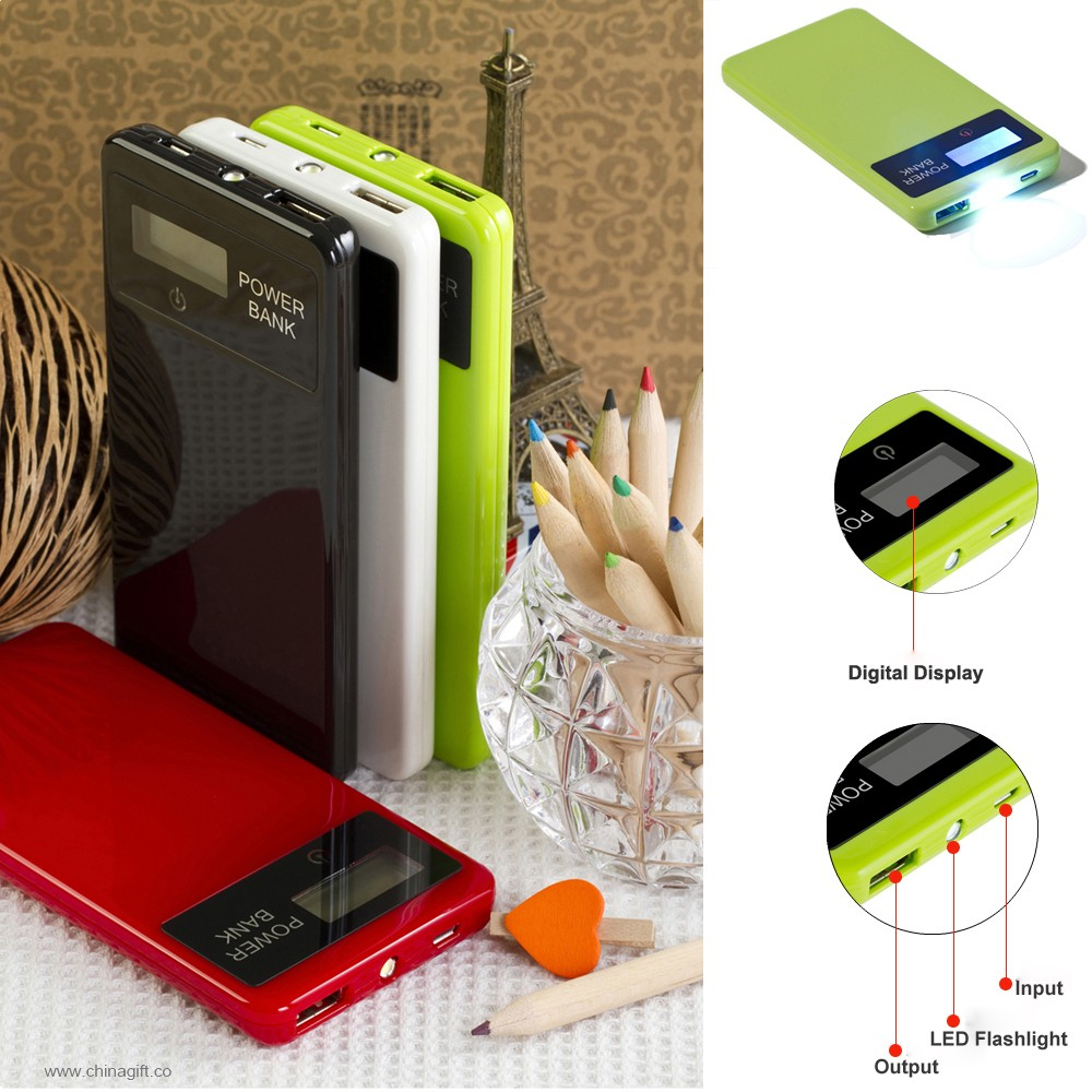 slim touch screen powerbank4000mah