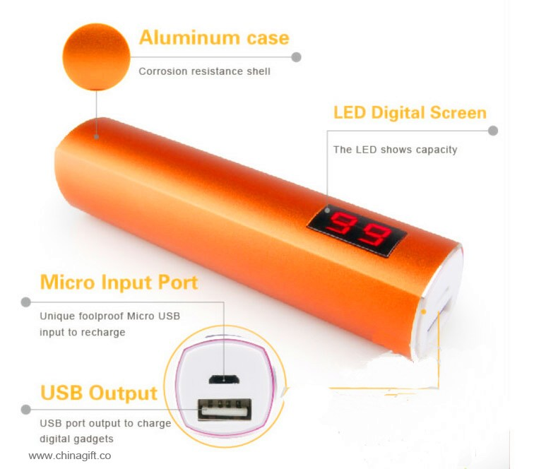 universal portable power bank 2600mah