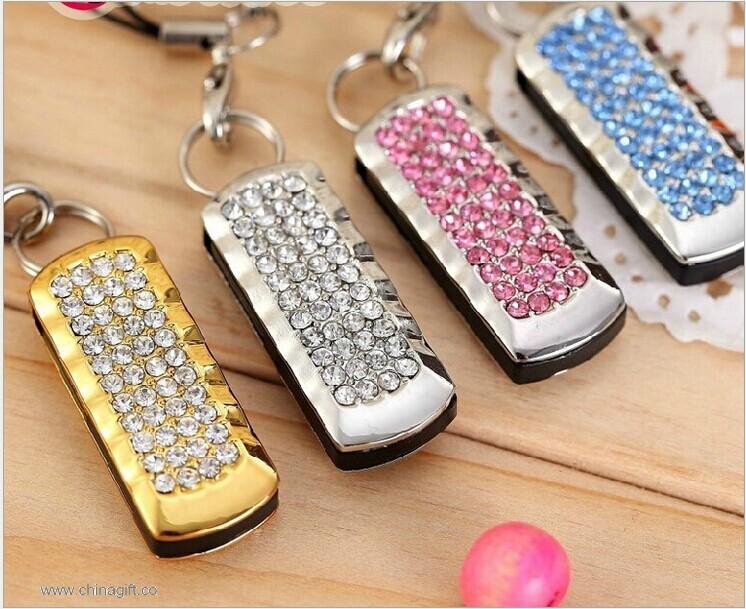 USB Flash Drive Pink Crystals