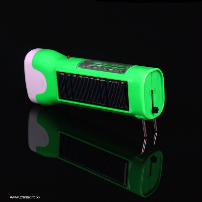 Solar Led Torch Flashlight