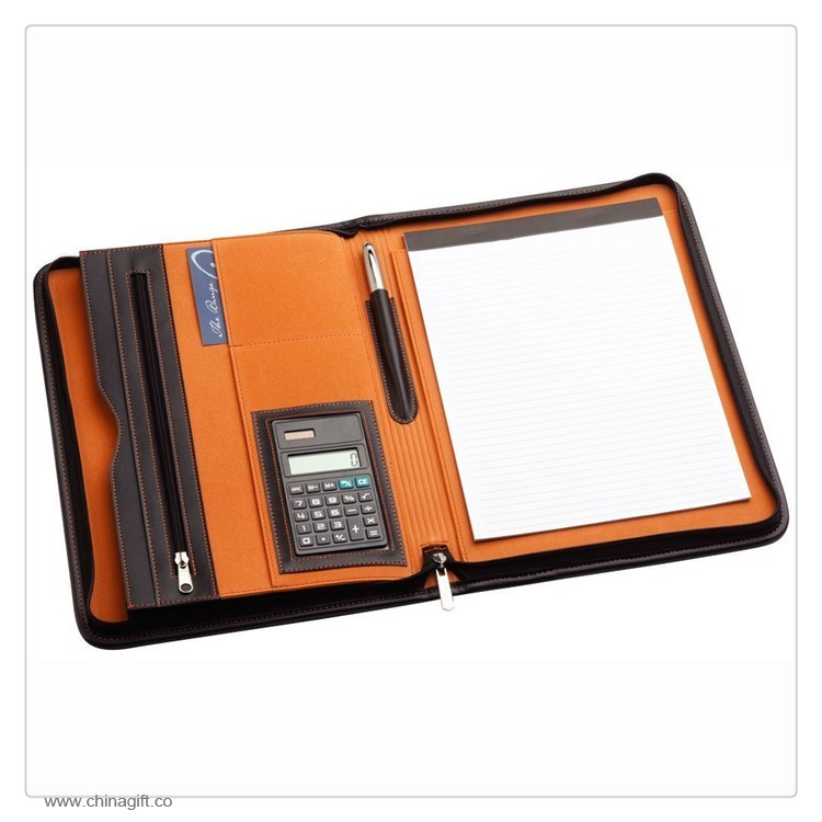 Portfolio File Folder with Calculator