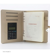 A5 & A6 Business With Calculator leather portfolio images