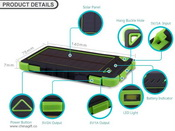 8000mah water-proof solar charger images