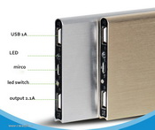 Slim 5000mah portable power bank images