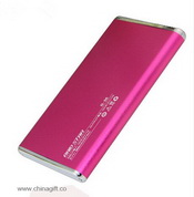 slim mental power bank with led light images