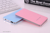 slim portable leather power bank 4000mah images