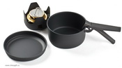 Mini cookware kit with alcohol burner images